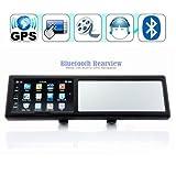 4,3 pulgadas Espejo retrovisor con Bluetooth manos libres para llamadas navegador GPS integrado de navegación GPS 4GB mapa de Europa