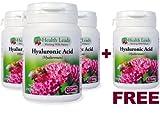 **3 + 1 FREE **Hyaluronic Acid High Strength 275mg x 50 Caps (hyalurona n) - 100% Additive Free from Health Leads UK