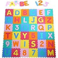 Yorbay Puzzlematte EVA Schadstofffrei Kinderspielteppich Spielmatte für Kinder-Garden EVA 36 (86 Stück.) preisvergleich bei kleinkindspielzeugpreise.eu