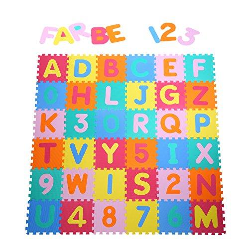 Yorbay Alfombra puzle para Niños bebe infantil, esteras de 32x32 cm,