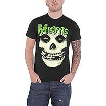 Misfits T Shirt Jarek Skull Glow in the Dark Band Logo offiziell Herren Nue