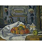 Tallenge Modern Masters Collection - Dish of Apples by Paul Cézanne - A3 Size Premium Quality Rolled Poster
