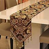 kaige Tischläufer Vintage Tischfahne Tuch Tisch Tischdecke Dekostoff 32 * 210cm