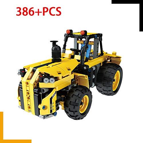 HLDX 386 + PCS City Series Traktor Elektrische Fernbedienung Baustein Spielzeug Kinder Puzzle Montage Modell Fahrzeug ABS Kleine Partikel Kindergeschenke - Ziel City Lego