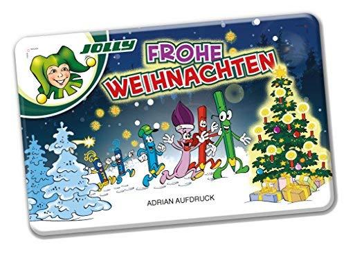 JOLLY Buntstifte 3000-0504D Supersticks Classic, 24 Farben im Metallkasten Schule Weihnachten