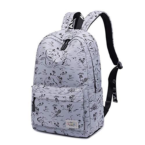 WENYAO Männer Rucksack Jugendmode Teenager Rucksäcke für Teenager Jungen Schulrucksack Männliche Reisetaschen Junge Laptoptasche Grau