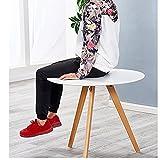 Tische HUO, Couchtisch Runden Esstisch Moderne Minimalistische Kleine Beistelltisch Multifunktional (Farbe : 90cm White)