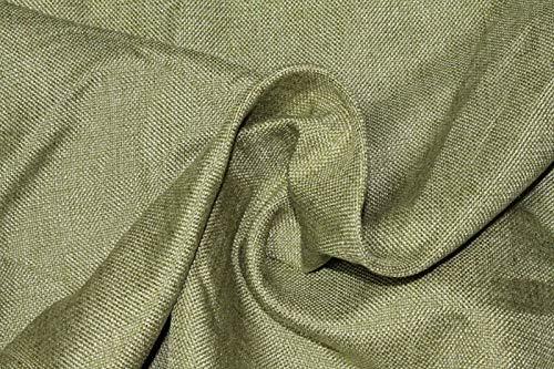 Russo tessuti tessuto tappezzeria tela tipo lino grezzo canapone 50x280 cm vari colori -verde