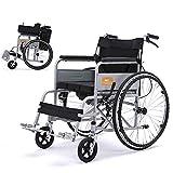 Rollstuhl-Licht-Transport, Der Tragbaren Reise-Stuhl-älteren Behinderten Skateboard-manuellen Haushalt Mit Toilette Faltet