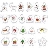 FHzytg 22 Stück Ausstechformen Weihnachten, Keksausstecher Weihnachten, Fondant Ausstechformen, Plätzchen Ausstecher Weihnachten Set, Weihnachtsausstechformen für Weihnachten Kekse Backen Kinder