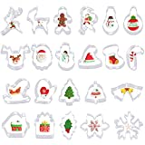FHzytg 22 Stück Ausstechformen Weihnachten, Keksausstecher Weihnachten, Fondant...