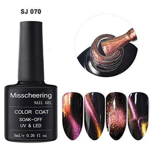Upxiang Nagellack, Polieren 5D Nagel Gel Magnet Magic Cat Eye Gel Nail Art UV LED Gel Magnet Scheibe...