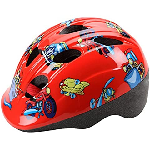 Casco CHEEKY Infantil Niño Niña Homologado para Ciclismo Patinaje y Skateboard Bicicleta Color ROJO