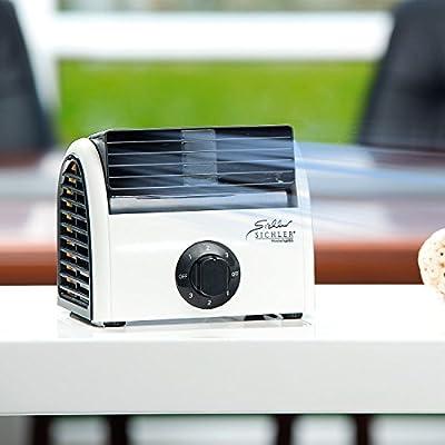 Sichler Leistungsstarker Tisch-Ventilator mit Ionisator