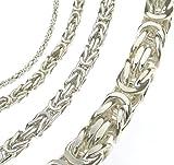 Königskette 925 Silber 4 mm 60 cm Silberkette Halskette Damen Herren Anhängerkette Schmuck ab Fabrik tendenze Italy D-BZ4-60v