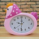 Hahn faul namens Bett timer Persönlichkeit niedlichen kleinen Wecker einfache Uhr, Rosa