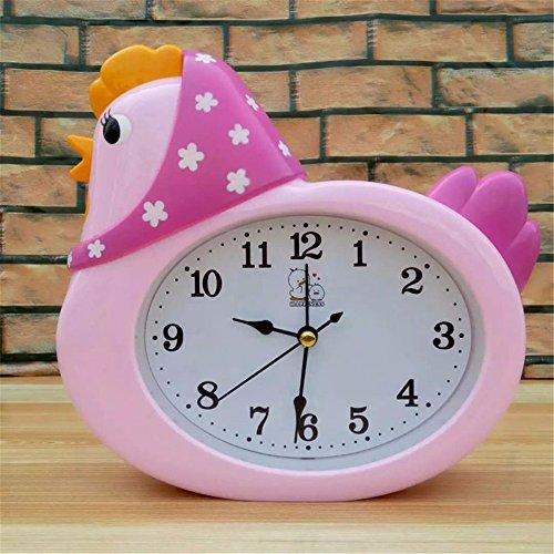Jiaochuang temporizador gallo personalidad perezosa lindo reloj despertador poco simple, de color rosa