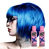 Pacco Da Due Tinte Semipermanenti Per Capelli Da 100ml Crazy Color (Capri Blue)