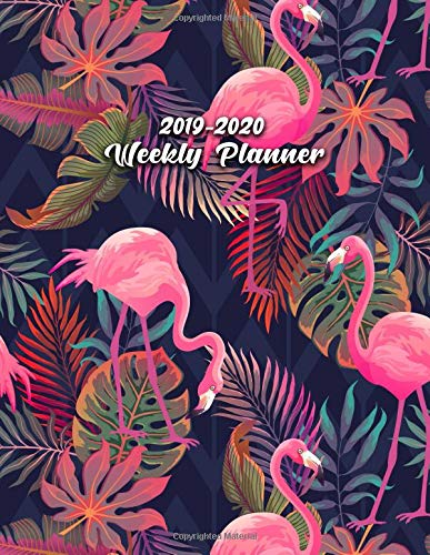 2019-2020 Weekly Planner: Cute Pink Flamingo Daily, Weekly and Monthly Planner. Pretty Tropical Two Year Organizer, Schedule and Agenda with Inspirational Quotes, Notes, To-Do's, Vision Boards, ... por Nifty Planners