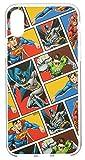 DC Comics Coque iPhone XS/X Coque Justice League Protection Silicone Gel Souple à Contour Transparent