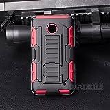 Nokia Lumia 630 / 635 Carcasa, Cocomii® [HEAVY DUTY] Nokia Lumia 630 / 635 Robot Case **NUEVO** [ULTRA FUTURO ARMOR] Premium Funda Con Clip Para Cinturón Pata De Cabra Kickstand Bumper Case [DEFENSOR MILITAR] De Todo El Cuerpo Híbrido Doble Capa Resistente Cubierta Protectora Cover Bumper Case [COCOMII GARANTÍA] ::: La Mejor Protección Frente A Caídas Y Las Repercusiones De Su Nokia Lumia 630 / 635 ::: ★★★★★ (Black/Red)