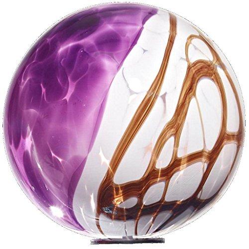 Globo, decorazione per giardino, globo in vetro, viola, diametro circa. Ø 13 cm, ornamento decorativo, (Viola Ornamento Di Vetro)