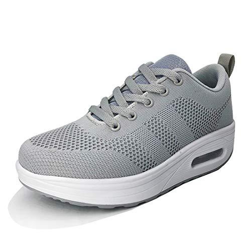 Zapatilla de Deporte Mujer Zapatos para Mujer Cuña Cómodos Mocasines Plataforma Zapatillas Sneaker...