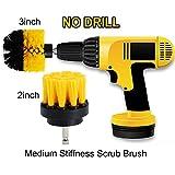 OxoxO 2 Zoll + 3-Zoll-Medium Heavy Duty Scrubbing Reinigung Power Scrubber Reinigung Drill Brush Kit für Badezimmer Oberflächen Badewanne Dusche Fliesen und Fugen Teppich Küche