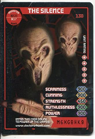 DOCTOR WHO MONSTER INVASION CCG RARE FOIL CARD #130 THE SILENCE