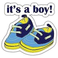 SkyBug Newborn Shoes For Boy Bumper Sticker Vinyl Art Decal for Car Truck Van Window Bike Laptop