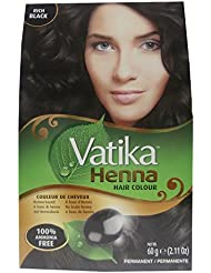Dabur Vatika Henna Hair Colour Permanent Rich Black 6x10g (insgesamt - 60g)