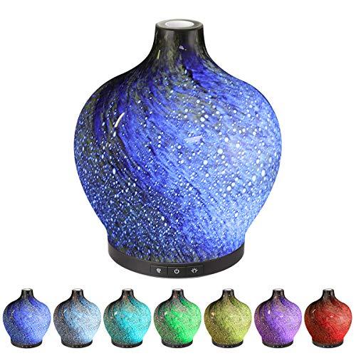 Aroma Diffuser super leise - Sancusto Luftbefeuchter Oil Düfte Humidifier 120ml, mit 7 Farben LED, Selbstabschaltung, für Yoga Salon Spa Wohn-, Schlaf-, Bade- oder Kinderzimmer Hotel