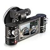 Car DVR Dash Camera, Xjp Dual Lens Car Camera Video Recorder F600