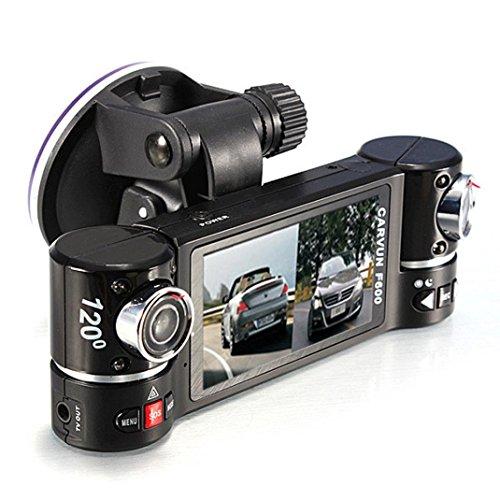 Car DVR Dash Camera, Xjp Dual Lens Car Camera Video Recorder F600 (Plate License Reader)