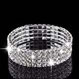 BeautyLife Diamante Crystal Stretch Bracelet (4 ROW)