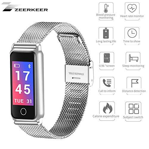zeerkeer Fitness Tracker Smartwatch Schrittzähler Cardio Bluetooth für Herren Damen Kinder Armbanduhr Herzfrequenzmesser Uhr Fitness Watch Wasserdicht IP67