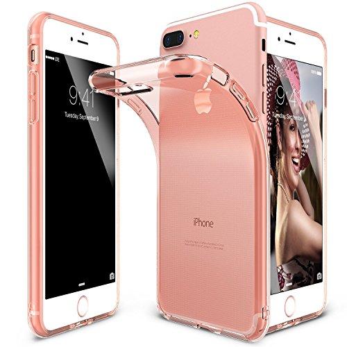 Custodia AIR per iPhone 7 Plus rosa semi-trasparente, in TPU flessibile