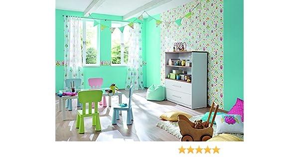 Rasch Vlies Tapete Kids&Teens II Heimwerker 459104 Eule Blume Kinder ...