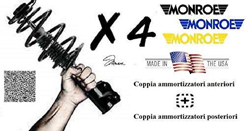 N° 4 Ammortizzatori Monroe Fiat Croma (194) 2.4 Multijet 147 Kw