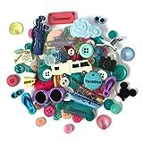 Botones Galore Vacaciones de Verano diseño de botón de plástico Resistente