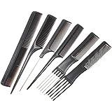 Rlorie Set de peluquería de 10 Piezas,Estilistas Profesionales de peluquería Barbería peines Cabello Sano,Profesionales Salón de Peine Antiestática Peluquería Barberos Peines