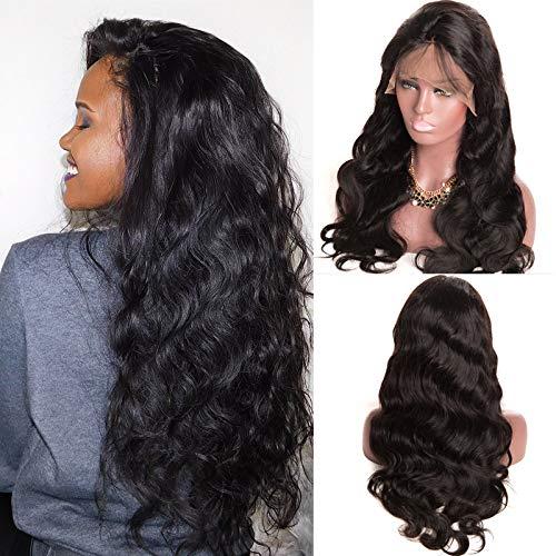 Ruiyu Pelucas de cabello humano ondulado 130% de densidad, cabello humano...