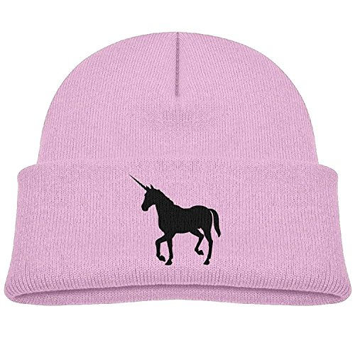 f279248a26d U-Only Boys Girls Skiing Knit Cap Silhouette Unicorn Candy Color Print Child  Winter Hat