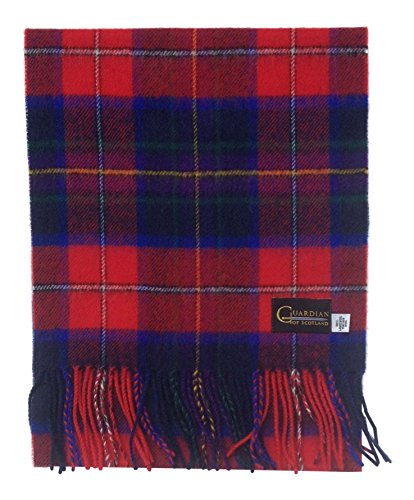 b82853a157a9 Guardian of Scotland Écharpe Tartan moderne en laine d agneau