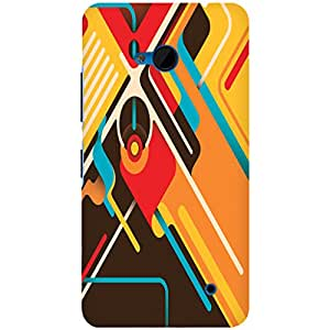 URBAN KOLOURS Original Designer Printed Hard Case Back Cover for Microsoft Lumia 640 (Abstractism)