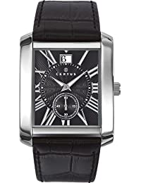 Certus 610984 - Reloj analógico de cuarzo para hombre con correa de piel, color negro