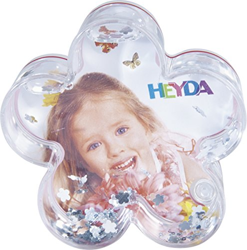 Heyda 20 - 48 884 05 Specific Christmas Ornament Acryl Transparent, Weiß, 10Stück - Christbaumschmuck (Specific Christmas Ornament, Acryl, transparent, Weiß, Picture Frames, 10 Stück (S), 100 mm) - Acryl Transparent Frame