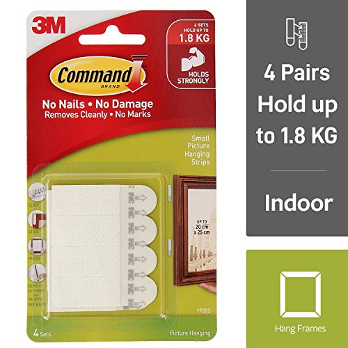 3M Command 17202 - Bandas adhesivas colgar pared