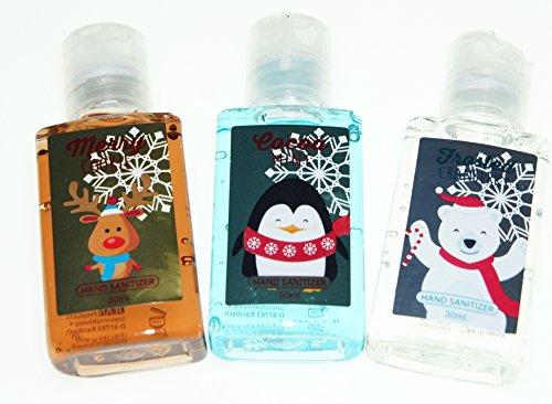 3x 30ml Hand Hygiene Pflege Hände waschen für unterwegs-Frische/Desinfektion Weihnachts-Edition