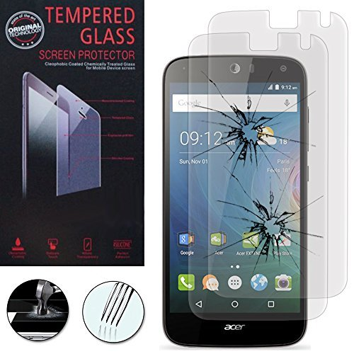 VCOMP® 2x Hochwertige gehärtete Panzerglasfolie für Acer Liquid Z630/ Z630S - TRANSPARENT